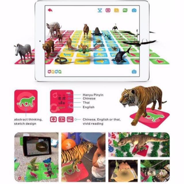 ชุดการ์ด คำศัพท์ สัตว์ 100 ตัว แสดง ภาษา 4 ภาษา พร้อมคำบรรยาย The wonderful land, the excellent zoo