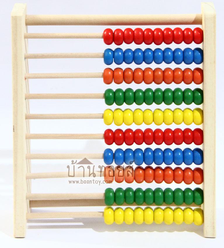 ลูกคิด 10 แถว สอนนับเลข ของเล่นเสริมทักษะและการเรียนรู้ วัสดุไม้ สีสันสดใส เป็นสื่อการเรียนการสอนคณิตศาสตร์และการฝึกนับให้เด็กๆ