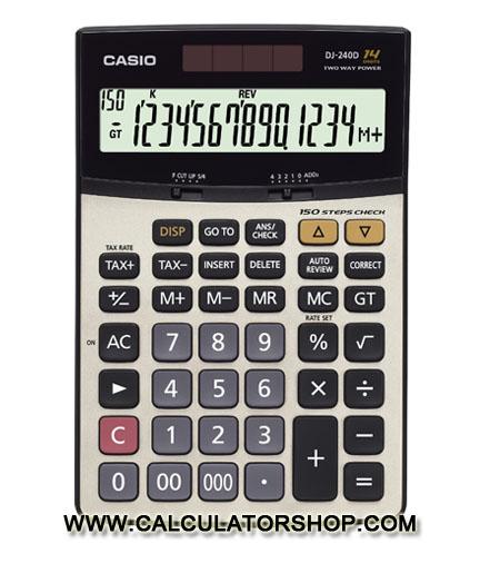ครื่องคิดเลข CASIO รุ่น DJ-240D