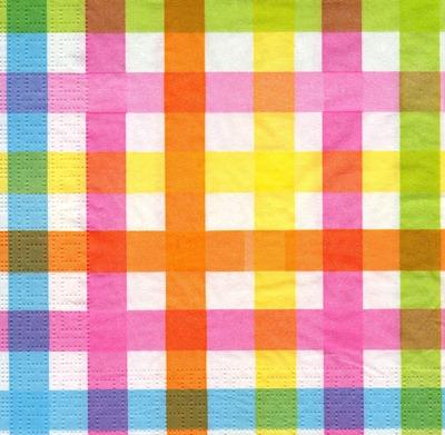 แนวภาพลายแต่ง ลายเส้นสีสดใส กระดาษแนพกิ้นสำหรับทำงาน เดคูพาจ Decoupage Paper Napkins ภาพกระจายเต็มแผ่น ขนาด 33X33cm