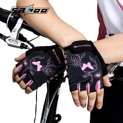 ถุงมือปั่นจักรยานสำหรับผู้หญิง SAHOO 41644