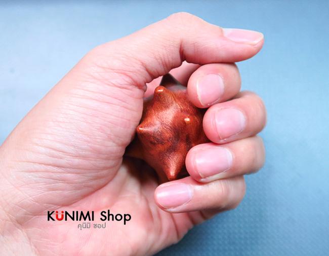 ลูกบอลมีปุ่ม(ทำจากไม้) สำหรับนวดกดจุด คลายเส้น เอ็นยึด บริหารสุขภาพที่ฝ่ามือ