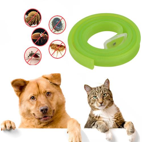 ปลอกคอ ไล่เห็บ หมัด ไรและยุงสำหรับสุนัข แมว สีเขียว