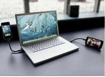 สายชาร์จแบบแข็งตั้งได้ Flexible USB Cable to Micro usb แบบ Android( 20cm )