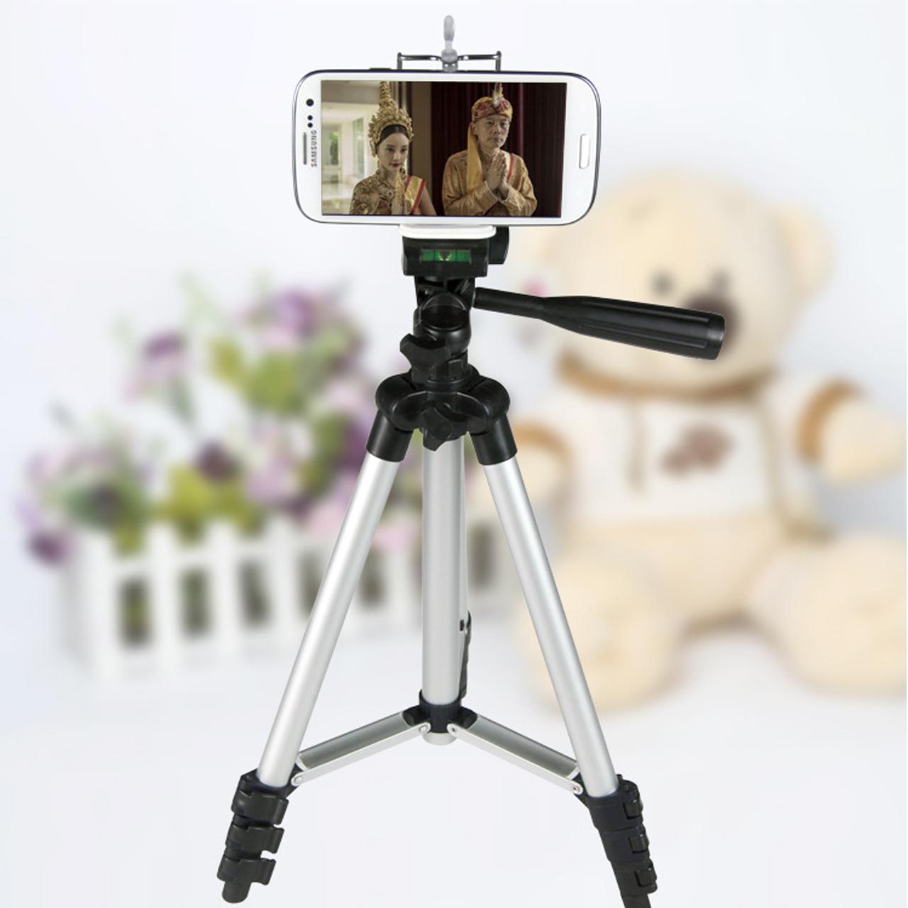 ขาตั้งกล้อง/มือถือ สำหรับถ่ายภาพ ปรับระดับได้ วัสดุคุณภาพดี แข็งแรง