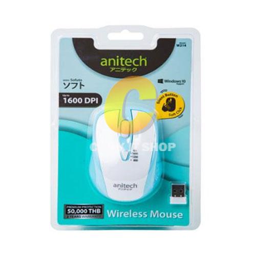 Mouse Wireless Anitech W214 - สีขาว