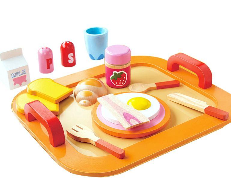ของเล่นไม้ชุดอาหารเช้า Onshine