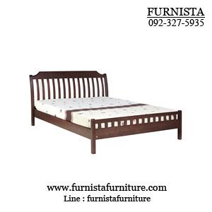 เตียงนอนไม้ 6 ฟุต มีสไตล์ ดีไซน์สวย (H-SERIES)
