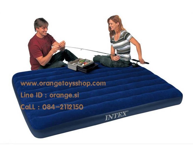 ที่นอน เป่าลม Intex-68759 Full Intex Downey Rayon Air Beds ( 5 ฟุต ) ขนาดสินค้า : 152 x 203 x 22 ซม **เฉพาะที่นอน**