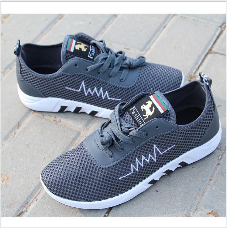รองเท้าวิ่งออกกำลังกาย-สีเทา