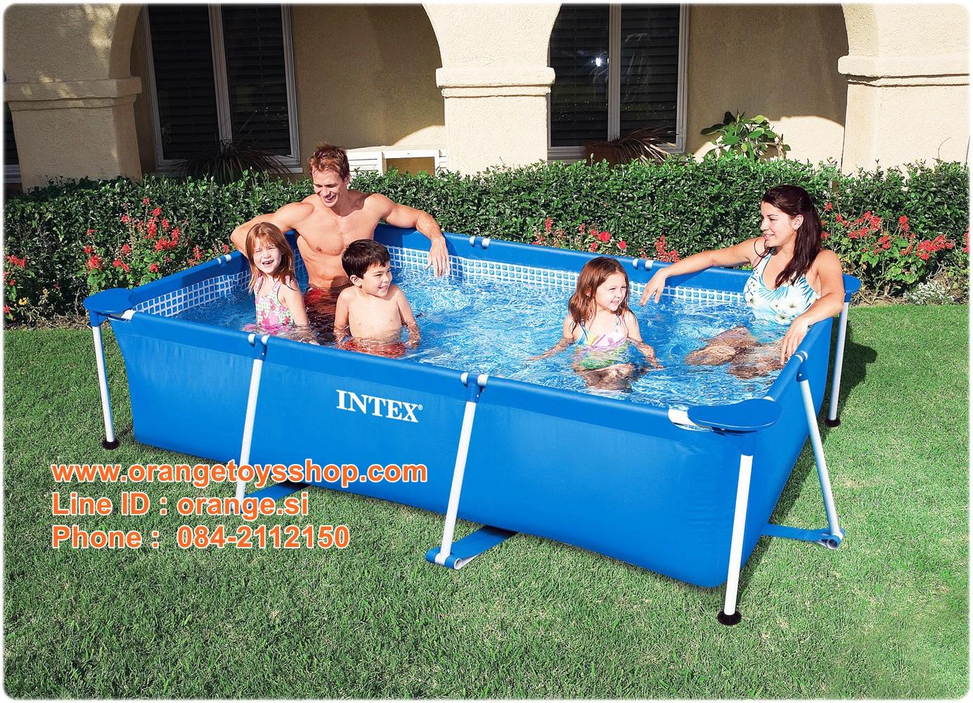 ( ขนาด 8.5 ฟุต ) สระน้ำสีเหลี่ยม 2.6 เมตร Rectangular Frame Swimming Pool (28271) ขนาด 260*160*65 เซนติเมตร