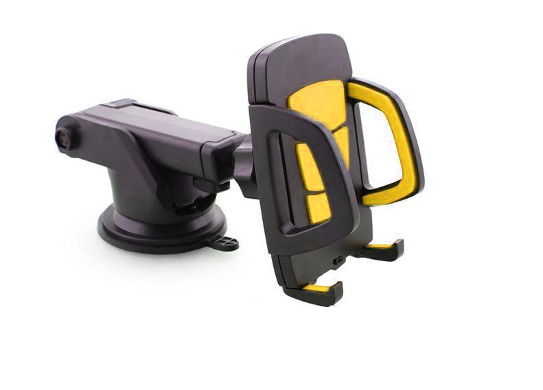 ที่หนีบโทรศัพท์ติดบนรถ Long Neck One-Touch Car Mount สีดำ-เหลือง