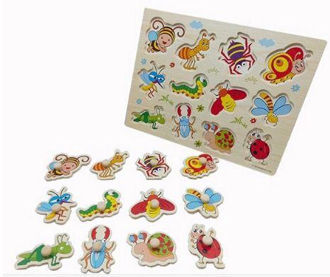 จิ๊กซอว์ไม้ ของเล่น จิ๊กซอว์เสริมพัฒนาการ ของเล่นไม้สำหรับเด็ก