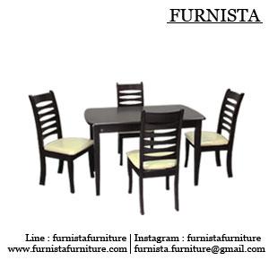 ชุดโต๊ะกินข้าว 4 ที่นั่ง นั่งสบาย ดีไซน์สวย ไม่ซ้ำใคร (สั่งทำ 40 ตัวขึ้นไป)