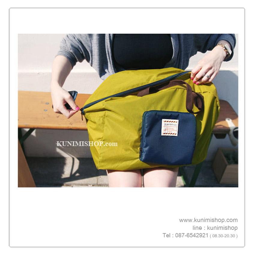 กระเป๋าจัดเก็บสิ่งของ กระเป๋าถือ ทำจากผ้าร่มกันน้ำ สำหรับใส่ผ้าขนหนู เสื้อผ้า หรือของใช้ จุกจิก ทั่วไป สามารถพับเก็บได้ครับ สะดวกในการพกพาไปในที่ต่างๆ ขนาดกระทัดรัดใส่กับกระเป๋าเดินทางได้สบายครับ ขนาด 42 X 32 ซม.