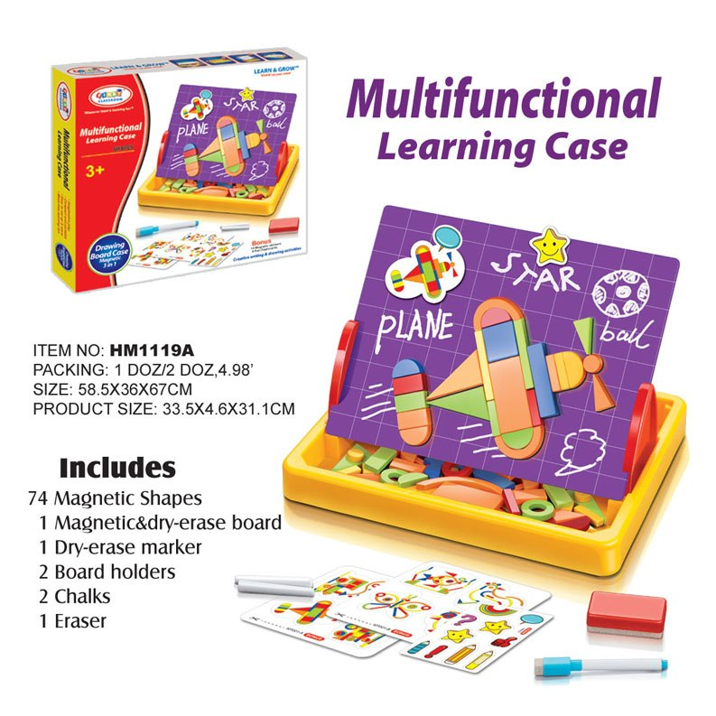 กระดานแม่เหล็ก First Classroom - Multifunctional Learning Case (Shapes) HM1119A