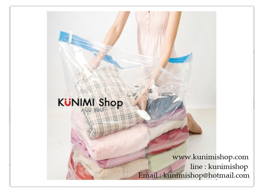 ถุงสูญญากาศ พลาสติกหนา อย่างดี แบบมีซิปล็อค 2 ชั้น ช่วงก้นถุงขยายได้ สำหรับเก็บใส่เสื้อผ้า ผ้าเช็ดตัว ผ้าห่ม ผ้านวม หมอน ช่วยลดพื้นที่ในการจัดเก็บ 50-75% และป้องกันฝุ่น เชื่อโรค กลิ่นเหม็นอับ ต่างๆ ถุงสามารถคงสภาพเป็นสูญญากาศได้นาน 6 เดือน และสามารถนำกลับมาใช้ได้หลายครั้ง ( ราคา ต่อ 1 ชิ้น ) มี 2 ขนาด : 1. กว้าง 60 x สูง 90 x ก้นกว้าง 28 cm. 2. กว้าง 110 x สูง 100 x ก้นกว้าง 44 cm.