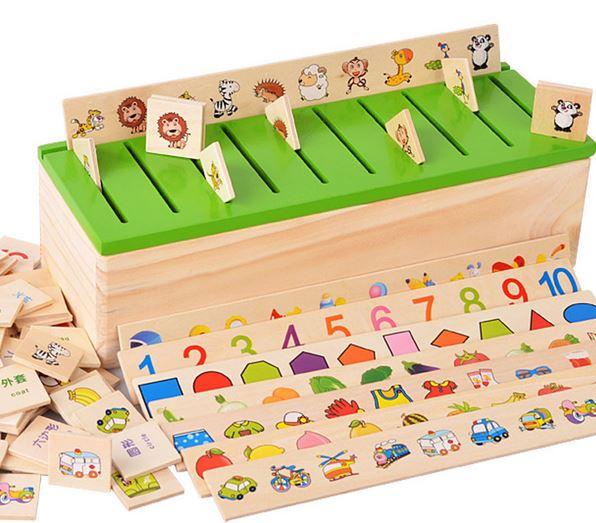ของเล่นเสริมพัฒนาการ กล่องคำศัพท์ Category Box