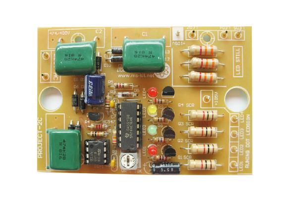 โครงงาน 2C (วงจรไฟวิ่ง 4 ช่องแบบบาร์) ใช้ไฟ 220V