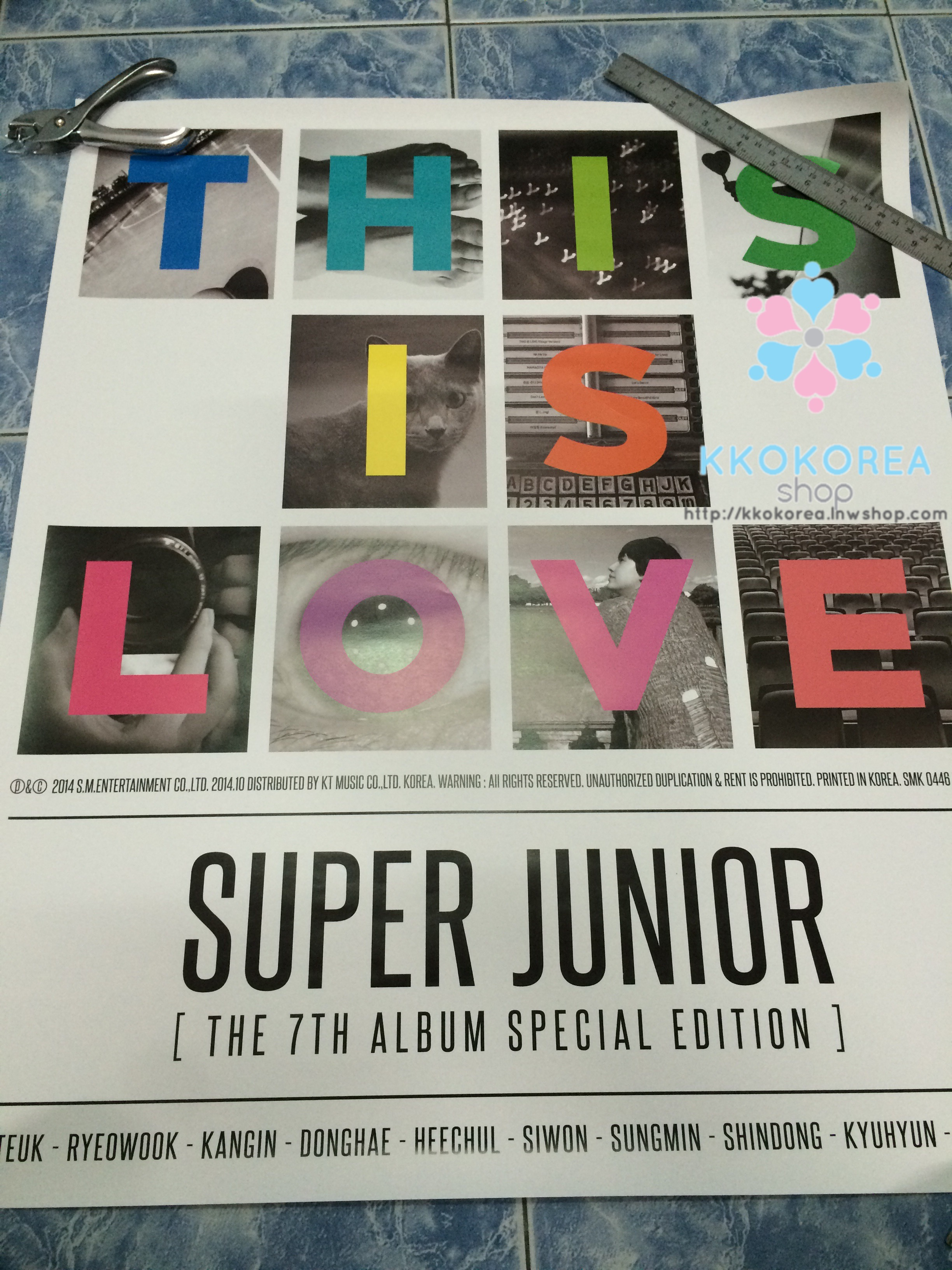 [Poster พร้อมส่ง 3 ใบ] Super Junior : 7th Album Repackage - THIS IS LOVE