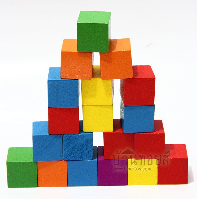 บล็อคไม้ลูกบาศก์ 100 ชิ้น สอบสาธิต มีโจทย์มาในชุด ฝึกเรื่องมิติสัมพันธ์ ทำให้เข้าใจโจทย์เรื่องนับบล็อค หรืออนุกรมได้ง่ายขึ้น