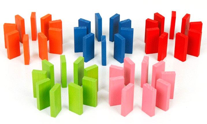 บล็อกไม้โดมิโน ของเล่นไม้เสริมพัฒนาการ ความคิดสร้างสรรค์ จินตนาการ สมาธิ ของเล่นสำหรับครอบครัว