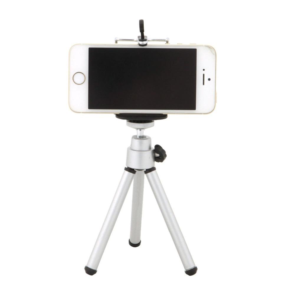 ขาตั้งกล้อง mobile holder สีเงิน