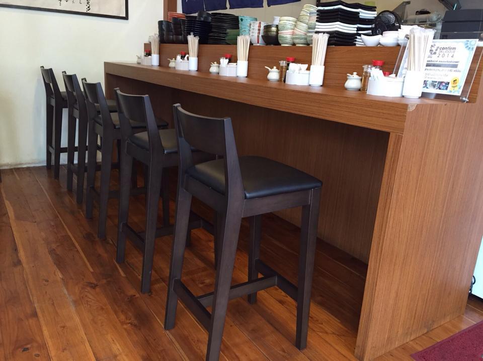 เก้าอี้บาร์ สีโอ๊ค ดีไซน์สวย สไตล์ญี่ปุ่น (BAR STOOL)