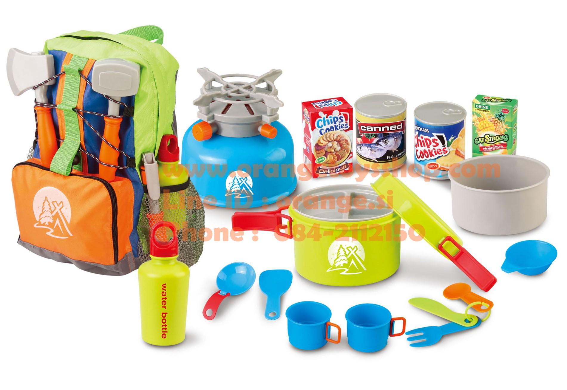 ชุดเดินป่า Berry Toys Little Explorer 13-Piece Camping Cooker Play Set