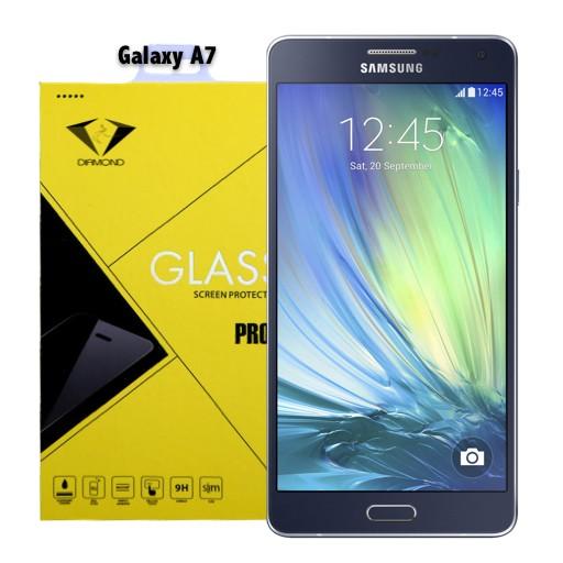 ฟิล์มกระจกนิรภัย ฟิล์มกันรอยมือถือ Samsung A7 ยี่ห้อ Diamond ซัมซุงเอเจ็ด