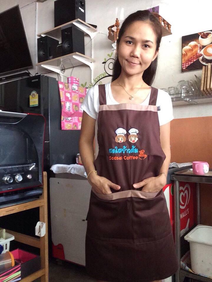 รูปผ้ากันเปื้อนร้านกาแฟ