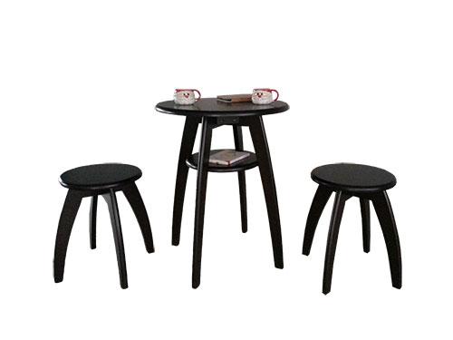 ชุดโต๊ะกาแฟ 2 ที่นั่ง มีสไตล์ ดีไซน์น่ารัก+ชั้นวางของ (สั่งทำ 10 ชุดขึ้นไป)