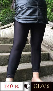 กางเกงเลคกิ้งขายาว เนื้อผ้ายางยืด คนรูปร่างอวบและใหญ่ สามารถใส่ได้คะ ช่วงปลายขาประดับด้วยผ้าลูกไม้สีดำ จะใส่ออกกำลังกาย หรือใส่เที่ยวก็ดูดี