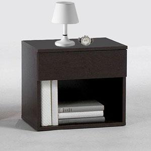 โต๊ะข้างเตียง+ชั้นวางของ สีโอ๊ค (สั่งทำสำหรับงานโปรเจค)