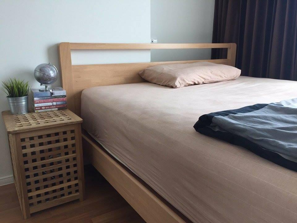 เตียงนอนไม้ดีไซน์ สไตล์โมเดิร์น สำหรับคอนโด (FL-SERIES)