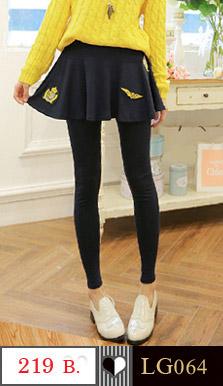 กางเกงเลคกิ้งขายาว ช่วงสะโพกมีกระโปรงซ้อนอีกชั้น สวยหวานน่ารักคะ