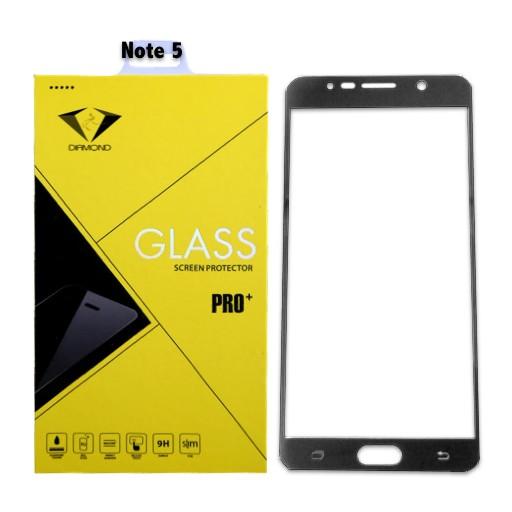 ฟิล์มกระจกนิรภัย ฟิล์มกันรอยมือถือ Samsung Note 5 เต็มจอ ยี่ห้อ Diamond สีดำ