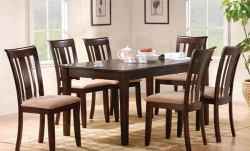 ชุดโต๊ะอาหาร 6 ที่นั่ง ดีไซน์เรียบหรู (TD-COLLECTION)