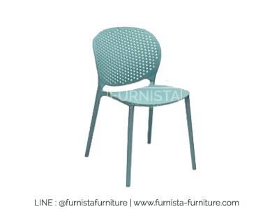 เก้าอี้ดีไซน์เก๋ สีฟ้าพาสเทล สำหรับร้านกาแฟ ร้านนม ร้านบิงซู (J-DESIGN)