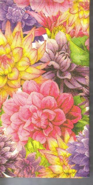 แนวภาพดอกไม้ ช่อดอกไม้หลากสีสรรสดใส ภาพลายกระจายเต็มแผ่น กระดาษแนพคินสำหรับทำงาน เดคูพาจ Decoupage Paper Napkins ขนาด 21X22cm