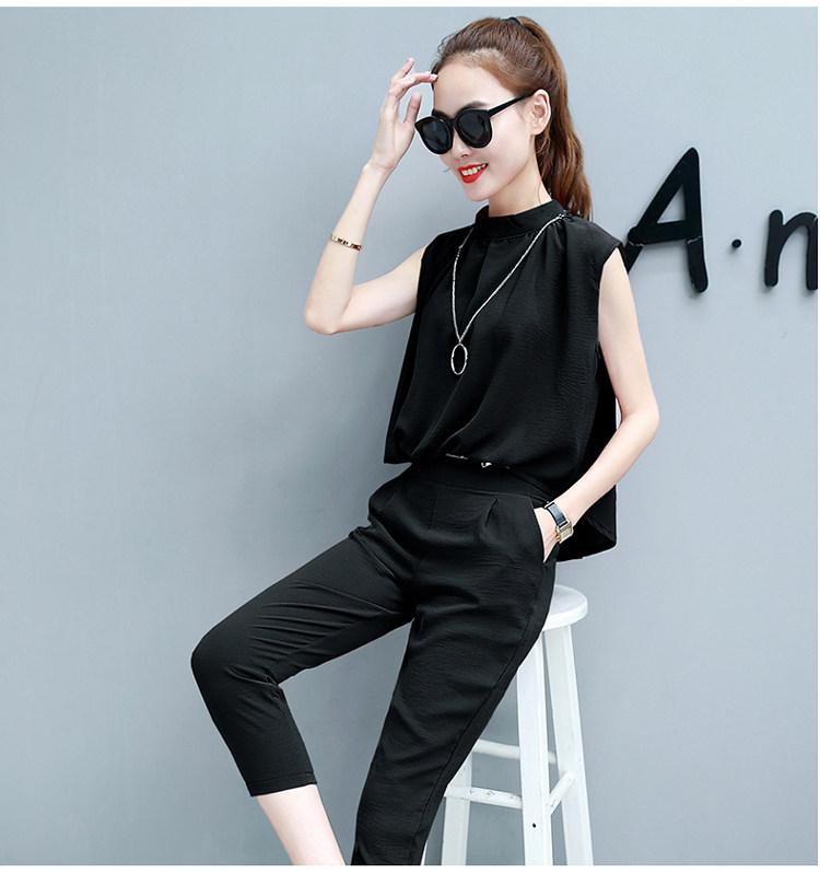 ชุดเชท Yi-lin ชีฟองเสื้อคู่กางเกง