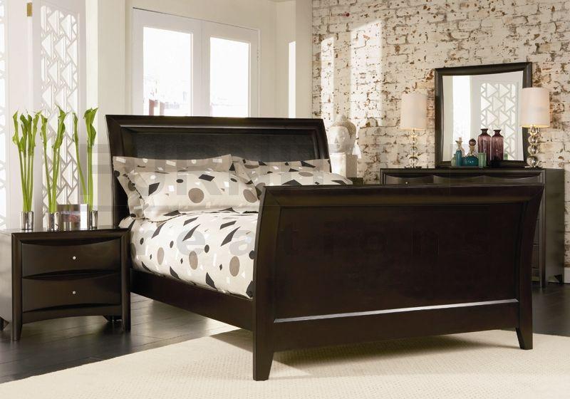 เตียงนอน สีบราวน์โอ๊ค ดีไซน์สวย (สั่งทำ 10 ชุดขึ้นไป)