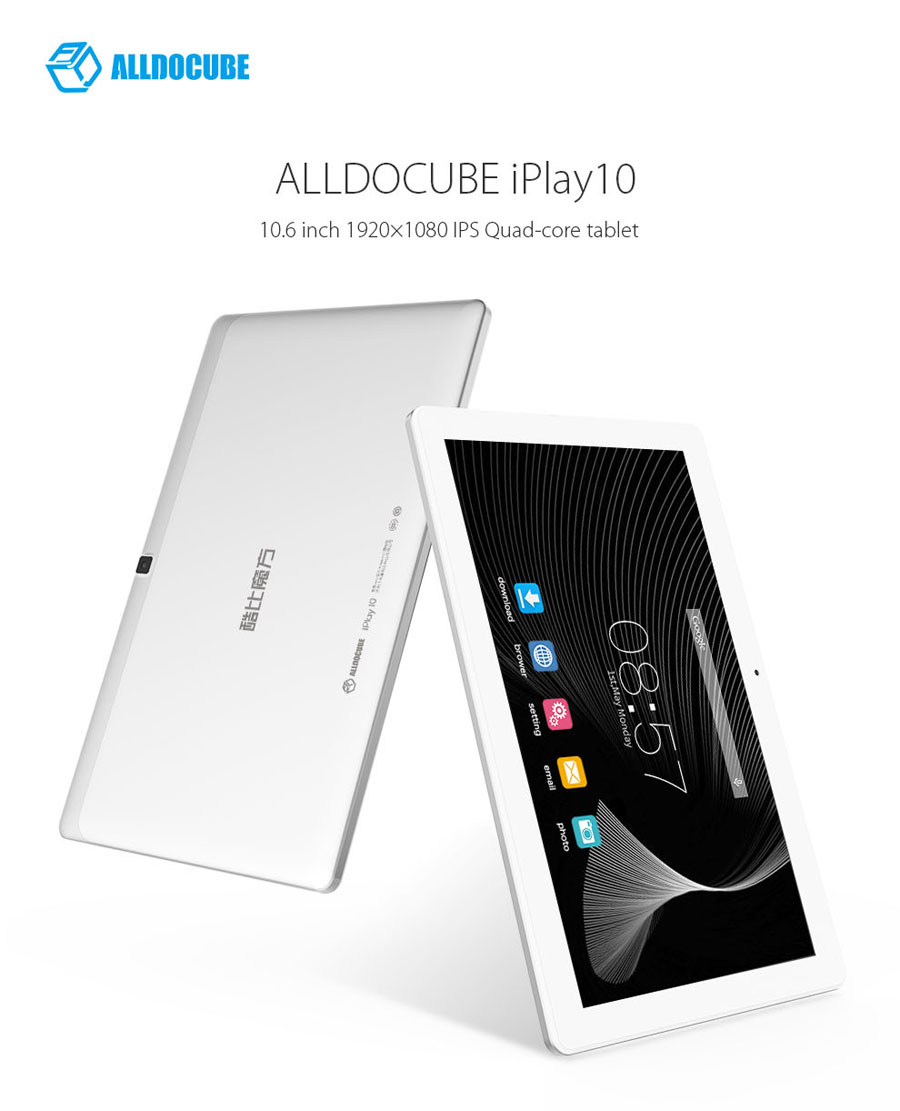AlldoCube (Cube) iplay10 Android 6.0 Tablet PC 10.6 นิ้ว IPS 1920x1080 MTK 8163 Quad Core 2GB/32GB Bluetooth GPS HDMI