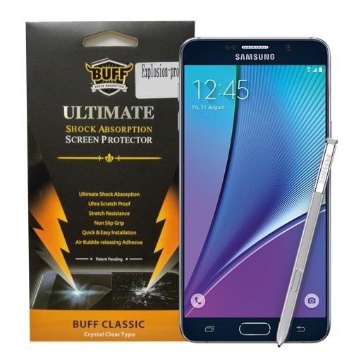 Buff ฟิล์ม TPU เต็มจอ ฟิล์มกันรอยมือถือ Samsung Galaxy Note 5 ซัมซุงกาแล็คซี่โน๊ต5