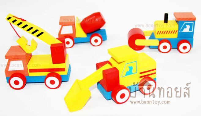ของเล่นเสริมพัฒนาการรถก่อสร้างถอดประกอบได้