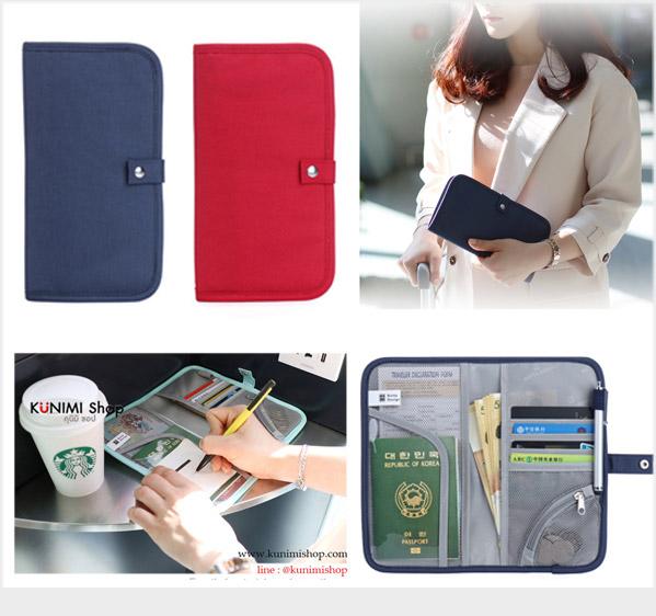 GB281 กระเป๋าใส่พาสปอร์ต กระเป๋าถือ ใส่เงิน นามบัตร บัตรATM มือถือ ใส่ของจุกจิก เอกสารต่างๆ ขนาดกระทัดรัด พกพาสะดวก มีช่องจัดเก็บหลายช่อง ขนาด ยาว 12.5 (กางออก 25 ซม.) x สูง 22 ซม.