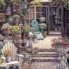 กระดาษสาพิมพ์ลาย rice paper สำหรับทำงาน เดคูพาจ Decoupage handmade แนวภาพ จัดบ้านและสวน เก้าอี้ในสวนหน้าบ้าน ภาพแนวตั้ง ปลาดาว ดีไซน์