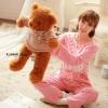 SP029 ชุดนอนเสื้อคู่กางเกงสีชมพู สวยหวาน น่ารัก