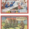 กระดาษเดคูพาจพิมพ์ลาย สำหรับทำงาน เดคูพาจ Decoupage งานฝีมือ งาน Handmade แนวภาพ cartoon การ์ตูนตลกทหารบกกะทหารเรือฝรั่ง น่าร๊ากกอะ ปลาดาวดีไซน์