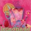 แนวภาพอาหาร แก้ว Lemonade บนพื้นสีชมพูเข้ม เป็นกระดาษ 4 บล๊อค กระดาษแนพคินสำหรับทำงาน เดคูพาจ Decoupage Paper Napkins เป็นภาพ 4 บล๊อค ขนาด 25X25 ซม